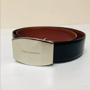Dolce and Gabbna D&G patent black leather belt  32